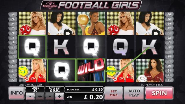Benchwarmer Football Girls 9